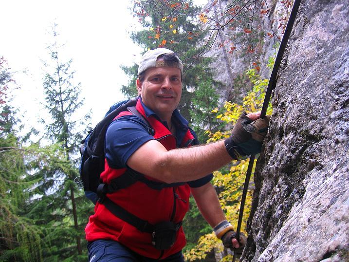 Foto: Andreas Koller / Klettersteigtour / Auf dem Naturfreundesteig durch die Kleine Klause (1002m) / 17.10.2010 17:47:46