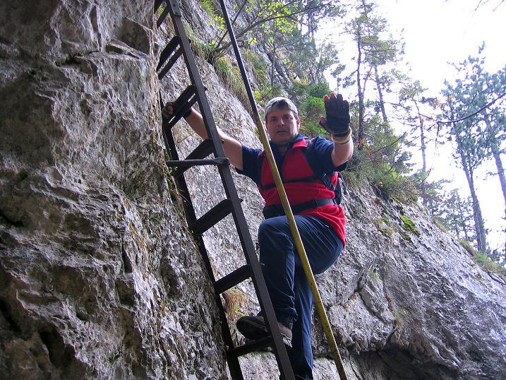Foto: Andreas Koller / Klettersteigtour / Auf dem Naturfreundesteig durch die Kleine Klause (1002m) / 17.10.2010 17:47:14