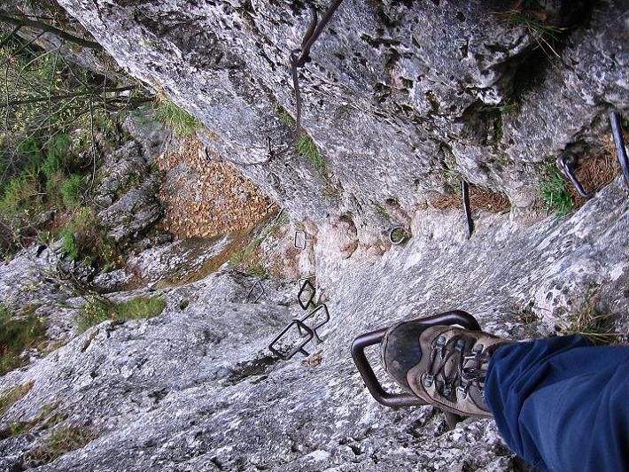 Foto: Andreas Koller / Klettersteigtour / Auf dem Naturfreundesteig durch die Kleine Klause (1002m) / 17.10.2010 17:46:50