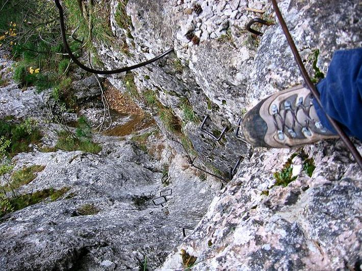 Foto: Andreas Koller / Klettersteigtour / Auf dem Naturfreundesteig durch die Kleine Klause (1002m) / 17.10.2010 17:46:43