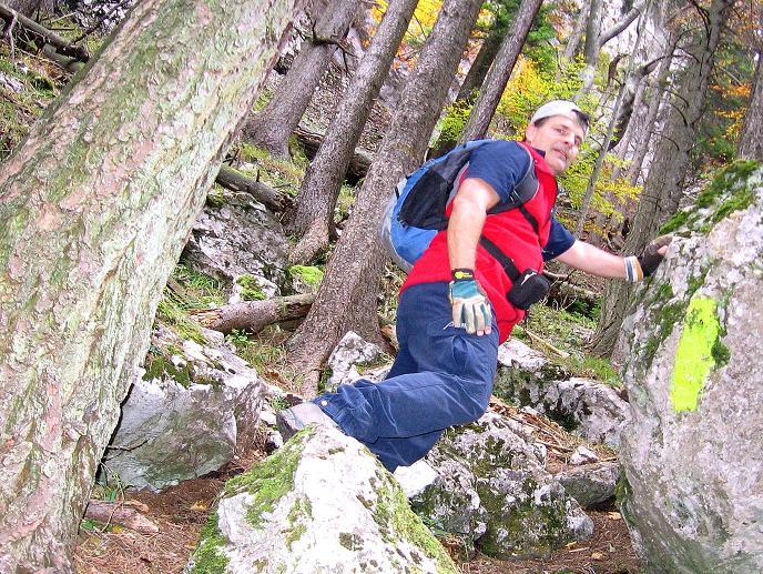 Foto: Andreas Koller / Klettersteigtour / Auf dem Naturfreundesteig durch die Kleine Klause (1002m) / 17.10.2010 17:46:35