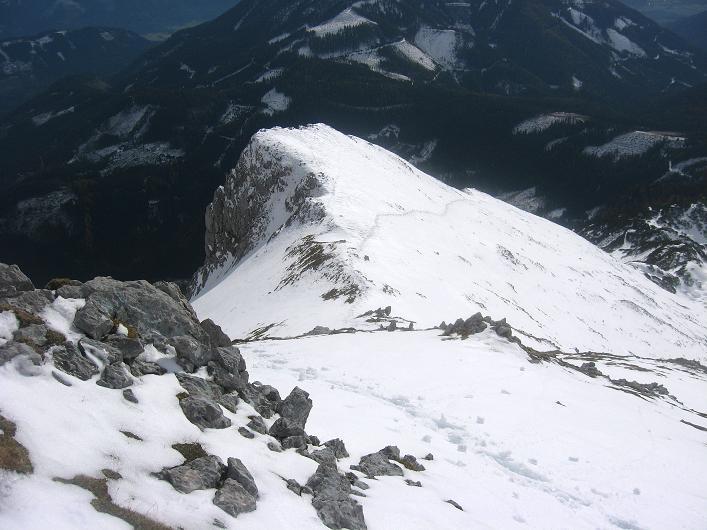 Foto: Andreas Koller / Schneeschuhtour / Über den Südwestgrat auf den Scheiblingstein (2197m) / SW-Grat / 25.10.2010 16:33:47