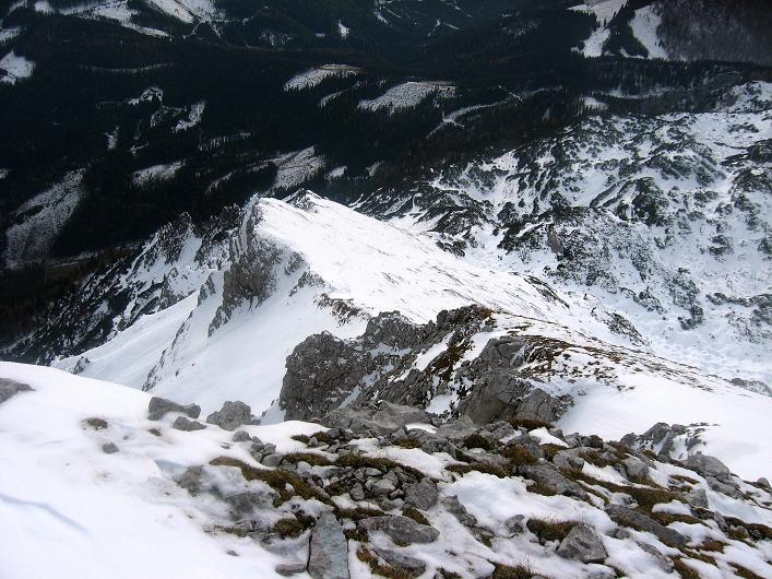 Foto: Andreas Koller / Schneeschuhtour / Über den Südwestgrat auf den Scheiblingstein (2197m) / SW-Grat / 25.10.2010 16:33:14