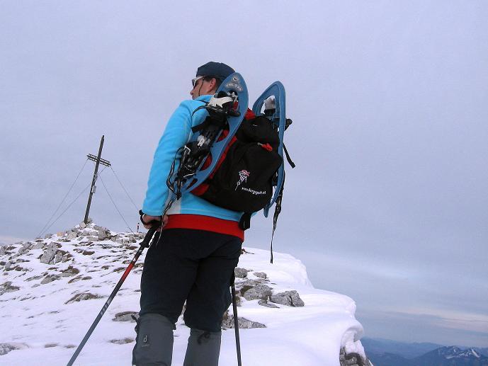 Foto: Andreas Koller / Schneeschuhtour / Über den Südwestgrat auf den Scheiblingstein (2197m) / Die letzten Meter zum Gipfel / 25.10.2010 16:32:26