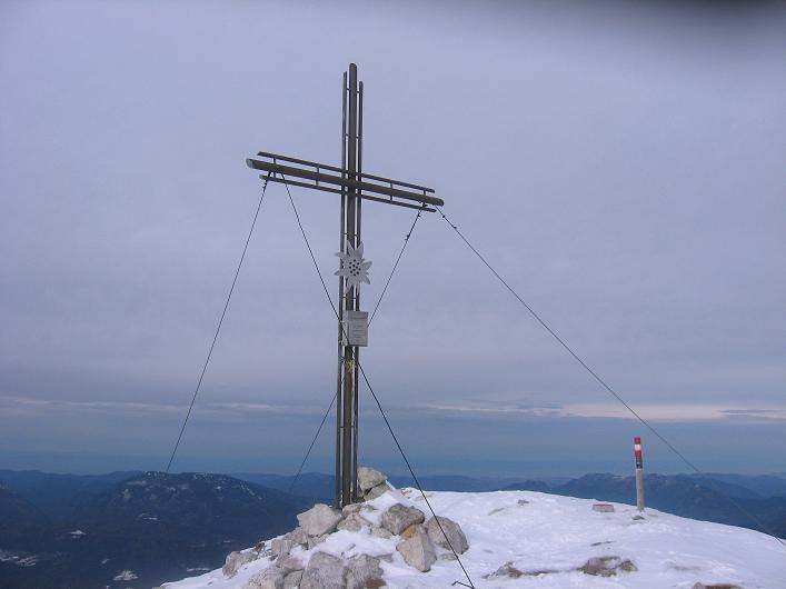 Foto: Andreas Koller / Schneeschuhtour / Über den Südwestgrat auf den Scheiblingstein (2197m) / Der Gipfel ist erreicht / 25.10.2010 16:31:33