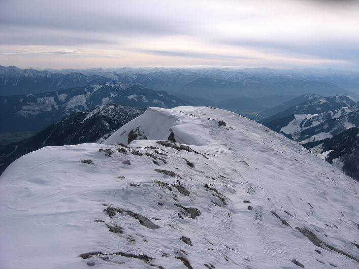 Foto: Andreas Koller / Schneeschuhtour / Über den Südwestgrat auf den Scheiblingstein (2197m) / W-Grat / 25.10.2010 16:31:21