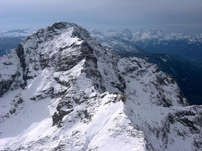 Foto: Andreas Koller / Schneeschuhtour / Über den Südwestgrat auf den Scheiblingstein (2197m) / Im Blickfang der Große Pyhrgas (2244m) / 25.10.2010 16:29:59