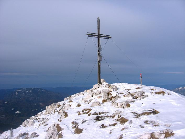 Foto: Andreas Koller / Schneeschuhtour / Über den Südwestgrat auf den Scheiblingstein (2197m) / Abstieg vom Scheiblingstein / 25.10.2010 16:10:20