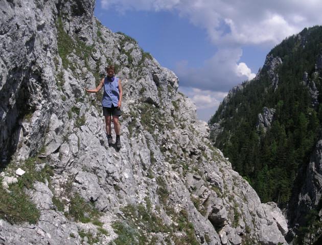 Foto: Wolfgang Lauschensky / Wandertour / Kleiner Schoberstein 1000m (Normalweg) / Abstieg in der Ostflanke / 31.10.2010 22:35:05
