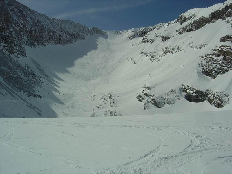 Foto: Heidi Schützinger / Skitour / Weißeck / Rückblick ins das wunderschöne Ödenkar  / 23.11.2010 17:57:25