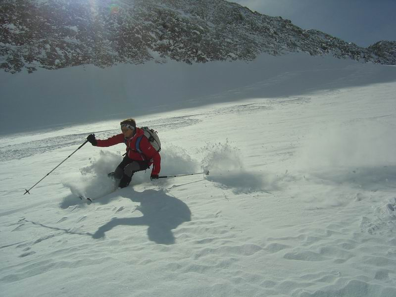 Foto: Heidi Schützinger / Skitour / Weißeck / Herrlicher Pulverschnee begleitet uns das gesamte Ödenkar / 23.11.2010 17:58:03