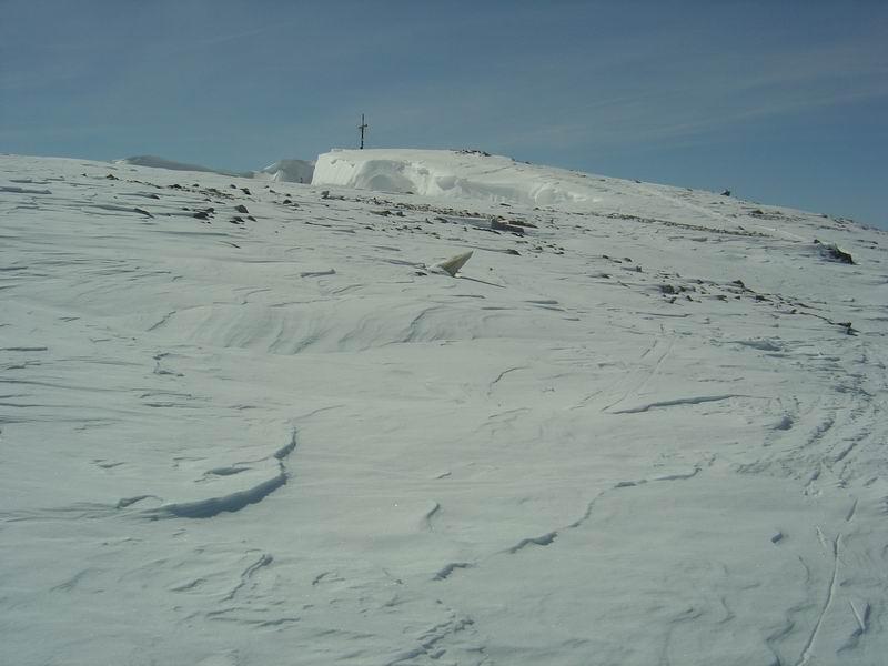 Foto: Heidi Schützinger / Skitour / Weißeck / Rückblick zum Weißeck Gipfel  / 23.11.2010 18:01:47