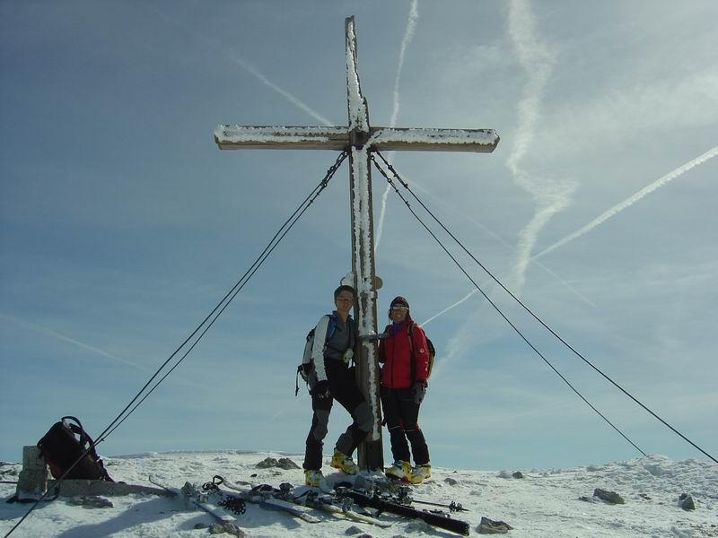 Foto: Heidi Schützinger / Skitour / Weißeck / Alpiner Genuss  den eindrucksvollen Weißeck Gipfel erreicht zu haben  / 23.11.2010 18:02:50