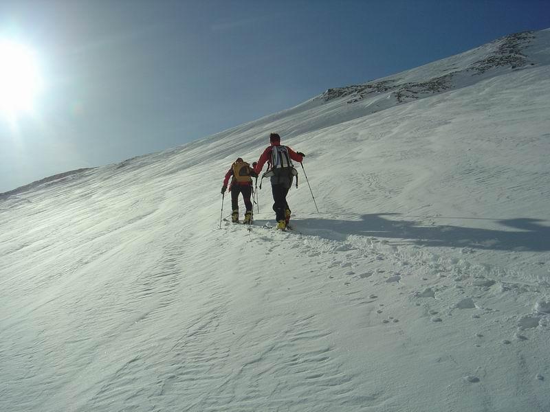 Foto: Heidi Schützinger / Skitour / Weißeck / Der Aufstieg  auf das Weißeck erfolgt durch  die Hölle und  weiter über die Steinstarspitze auf den Gipfel  / 23.11.2010 18:06:08