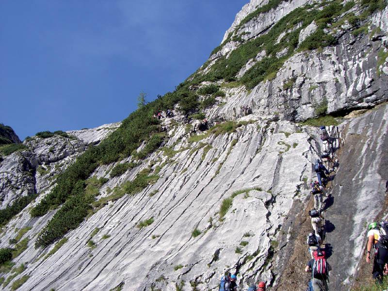 Klettersteig Garmisch : Fotogalerie tourfotos fotos zur klettersteig tour höllental