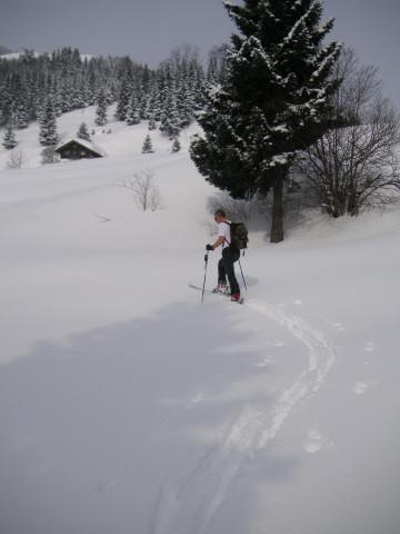 Foto: Wolfgang Lauschensky / Skitour / Kranzhorn 1368m / Bubenaualm / 04.02.2011 21:04:41