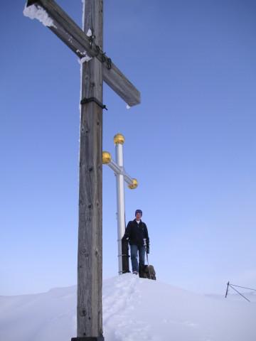 Foto: Wolfgang Lauschensky / Skitour / Kranzhorn 1368m / doppelkreuziges Kranzhorn / 04.02.2011 21:03:44