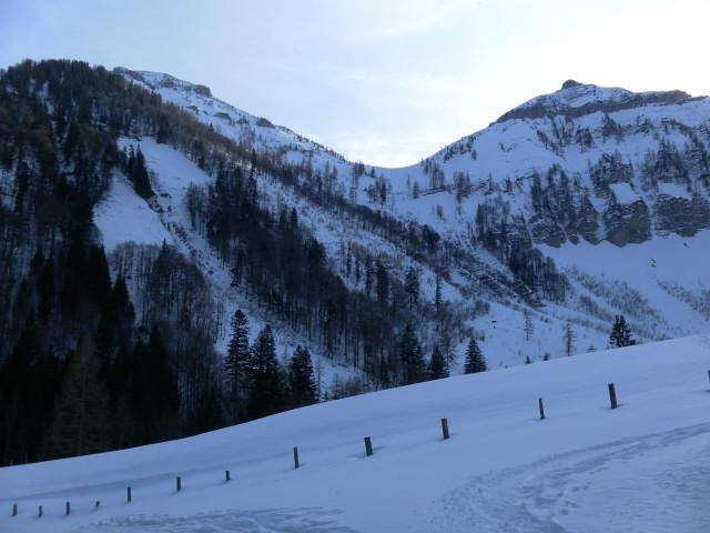 Foto: Wolfgang Lauschensky / Skitour / Gennerhorn Überquerung mit  Nordabfahrt  / Gennerhorn-Nordflanke / 11.02.2011 19:09:17