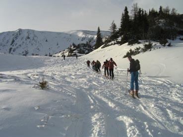 Foto: Datzberger Hans / Ski Tour / Lahnerleitenspitze und Hinkareck aus dem Radmertal / Von hier im Seekar entweder geradeaus und rechts zur Lahnerleiten oder links zum Hinkareck. / 13.04.2011 23:09:18