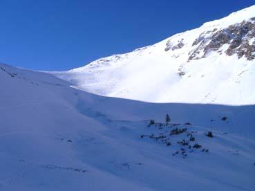 Foto: Datzberger Hans / Ski Tour / Lahnerleitenspitze und Hinkareck aus dem Radmertal / In der Lahnerleiten zum Kamm und rechts auf den Gipfel. / 13.04.2011 23:08:57