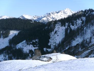 Foto: Datzberger Hans / Ski Tour / Lahnerleitenspitze und Hinkareck aus dem Radmertal / Blick zur Seekaralm. / 02.02.2014 21:29:02