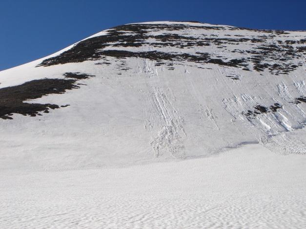 Foto: Manfred Karl / Skitour / Bärenkopf Runde / Gr. Bärenkopf Nordflanke, bei besseren Verhältnissen eine schöne Anfängereistour / 21.05.2011 23:35:33