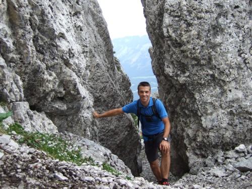 Foto: hofchri / Wandertour / Hochstaufen (1771 m) über Steinerne Jäger (I+) / weiter durch den Felsspalt / 09.06.2011 21:44:23