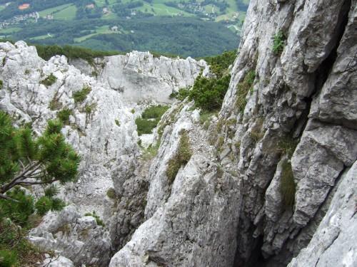 Foto: hofchri / Wandertour / Hochstaufen (1771 m) über Steinerne Jäger (I+) / Schlüsselstelle II+ beim Gipfelanstieg / 09.06.2011 21:44:46