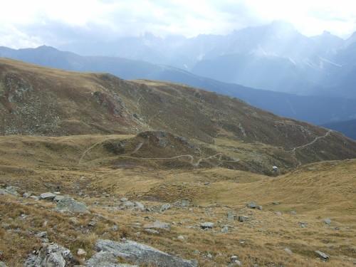 Foto: hofchri / Mountainbiketour / Strickberg (2553 m) und Marchkinkele (2545 m) von Winnebach / der Trail lässt sich schon erahnen / 19.06.2011 22:05:01