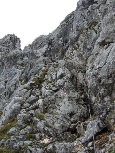 """Foto: hofchri / Klettersteigtour / Wagendrischlhorn (2252 m) über """"Wagendrischlhorn-Klettersteig"""" / die Rinne / 29.06.2011 22:29:39"""