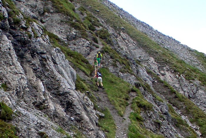 Foto: vince 51 / Wander Tour / Saladinaspitze/Fensterlewand / in der NW-Flanke / 01.07.2011 22:37:43