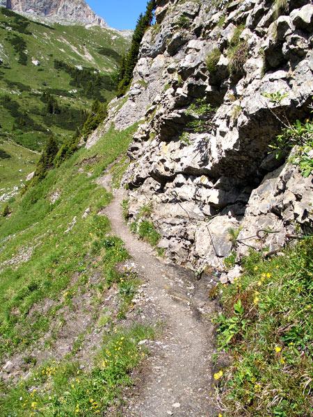 Foto: vince 51 / Wander Tour / Saladinaspitze/Fensterlewand / auf dem Felsensteig / 01.07.2011 22:27:58