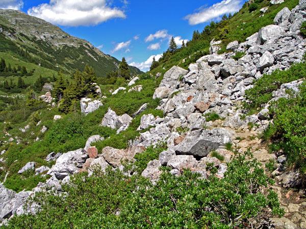 Foto: vince 51 / Wander Tour / Saladinaspitze/Fensterlewand / der Felsensteig macht seinem Namen alle Ehre / 01.07.2011 22:27:29