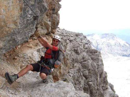 """Foto: hofchri / Klettersteigtour / Brenta-Durchquerung  via """"Sent. Alfredo Benini"""" (Bocchette Weg – I. Etappe, 2905 m) / und Action / 19.08.2011 14:20:09"""