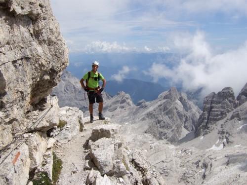 """Foto: hofchri / Klettersteigtour / Brenta-Durchquerung  via """"Sent. Alfredo Benini"""" (Bocchette Weg – I. Etappe, 2905 m) / aber auch ausgesetzte Bänder / 19.08.2011 14:20:54"""