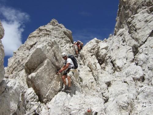 """Foto: hofchri / Klettersteigtour / Brenta-Durchquerung  via """"Sent. Alfredo Benini"""" (Bocchette Weg – I. Etappe, 2905 m) / Abstiegsklettersteig B / 19.08.2011 14:21:14"""