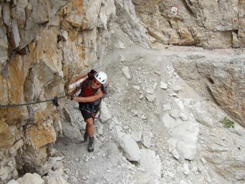 """Foto: hofchri / Klettersteigtour / Brenta-Durchquerung  via """"Sent. Alfredo Benini"""" (Bocchette Weg – I. Etappe, 2905 m) / 19.08.2011 14:21:26"""