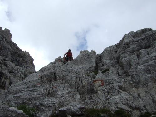 "Foto: hofchri / Klettersteigtour / Brenta-Durchquerung  via ""Sent. Alfredo Benini"" (Bocchette Weg – I. Etappe, 2905 m) / kurzer Klettersteig / 19.08.2011 14:22:51"
