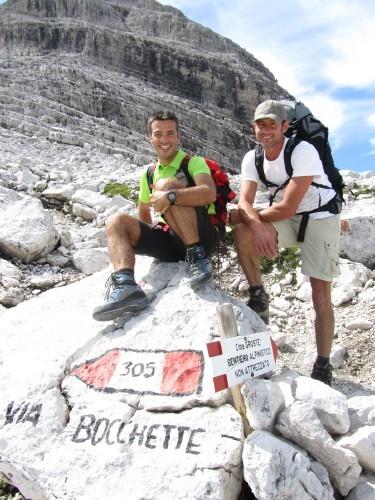 """Foto: hofchri / Klettersteigtour / Brenta-Durchquerung  via """"Sent. Alfredo Benini"""" (Bocchette Weg – I. Etappe, 2905 m) / zum Start der Megaferrata / 19.08.2011 14:16:49"""