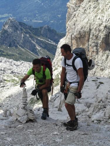 """Foto: hofchri / Klettersteigtour / Brenta-Durchquerung  via """"Sent. Alfredo Benini"""" (Bocchette Weg – I. Etappe, 2905 m) / Stoamandlbau / 19.08.2011 14:22:27"""