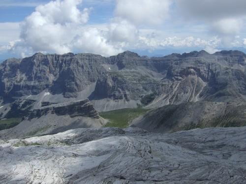 """Foto: hofchri / Klettersteigtour / Brenta-Durchquerung  via """"Sent. Alfredo Benini"""" (Bocchette Weg – I. Etappe, 2905 m) / Panorama schon beim Zustieg / 19.08.2011 14:16:11"""