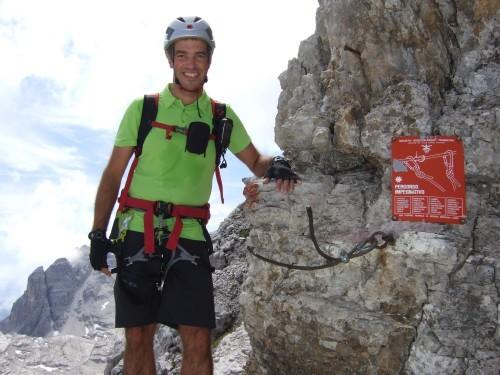 """Foto: hofchri / Klettersteigtour / Brenta-Durchquerung  via """"Sent. Alfredo Benini"""" (Bocchette Weg – I. Etappe, 2905 m) / am Einstieg auf 2720 m / 19.08.2011 14:17:09"""
