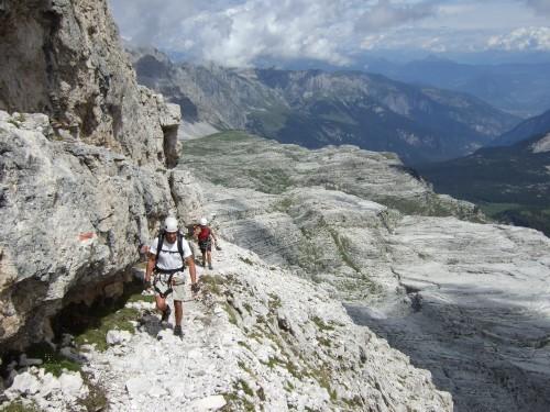 "Foto: hofchri / Klettersteigtour / Brenta-Durchquerung  via ""Sent. Alfredo Benini"" (Bocchette Weg – I. Etappe, 2905 m) / das erste Band / 19.08.2011 14:17:19"