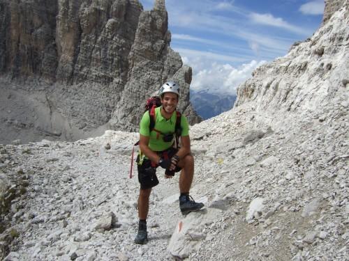 """Foto: hofchri / Klettersteigtour / Brenta-Durchquerung  via """"Sent. Alfredo Benini"""" (Bocchette Weg – I. Etappe, 2905 m) / vor einer kleinen Scharte / 19.08.2011 14:17:59"""