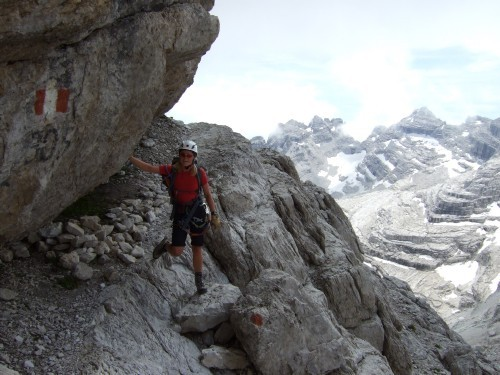 """Foto: hofchri / Klettersteigtour / Brenta-Durchquerung  via """"Sent. Alfredo Benini"""" (Bocchette Weg – I. Etappe, 2905 m) / 19.08.2011 14:18:33"""