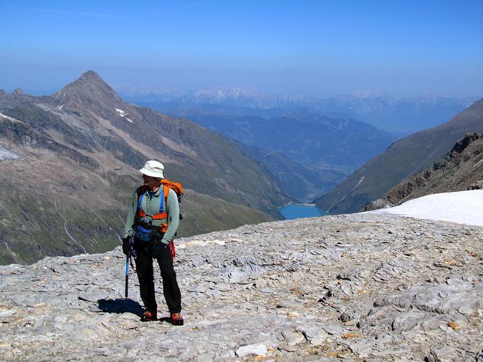 Foto: Andreas Koller / Wandertour / Gletschertour auf den Vorderen Bärenkopf (3250m) / Die letzten Meter zum Gipfel / 05.09.2011 22:57:10
