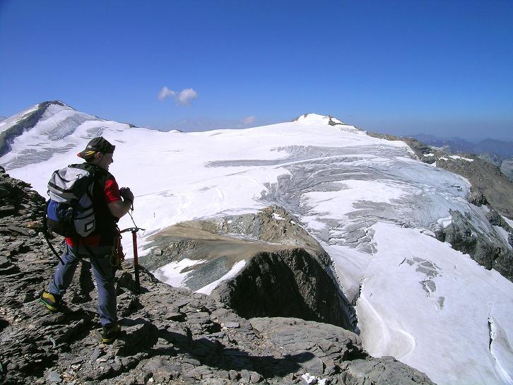 Foto: Andreas Koller / Wandertour / Gletschertour auf den Vorderen Bärenkopf (3250m) / Am Vorderen Bärenkopf / 05.09.2011 22:56:55