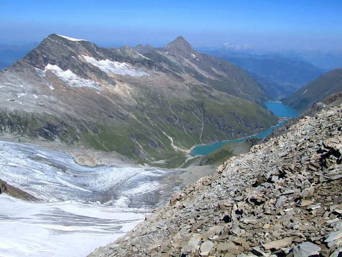 Foto: Andreas Koller / Wandertour / Gletschertour auf den Vorderen Bärenkopf (3250m) / Hocheiser (3206m) und Kitzsteinhorn (3203m) / 05.09.2011 22:55:48