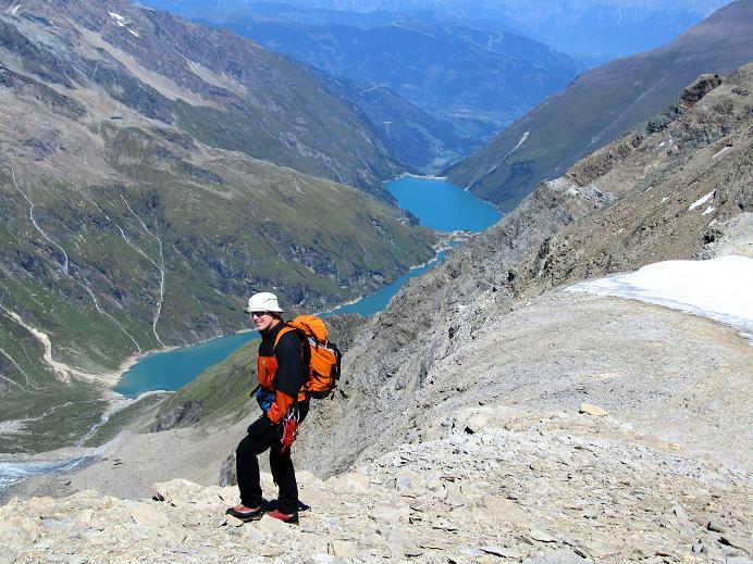 Foto: Andreas Koller / Wandertour / Gletschertour auf den Vorderen Bärenkopf (3250m) / Abstieg vom Vorderen Bärenkopf / 05.09.2011 22:54:02