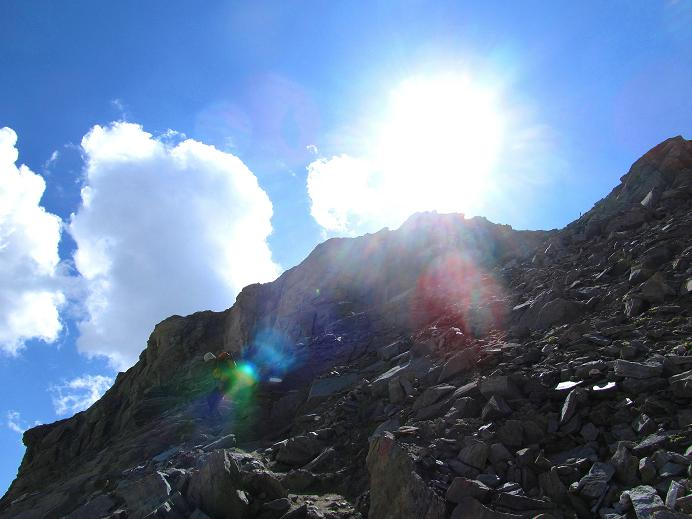 Foto: Andreas Koller / Wandertour / Gletschertour auf den Vorderen Bärenkopf (3250m) / Steiler Abstieg von der Oberwalderhütte / 05.09.2011 22:52:40